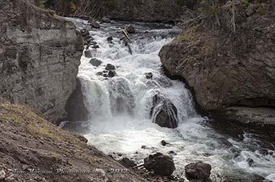 Firehole Falls located near the end of the Firehole River