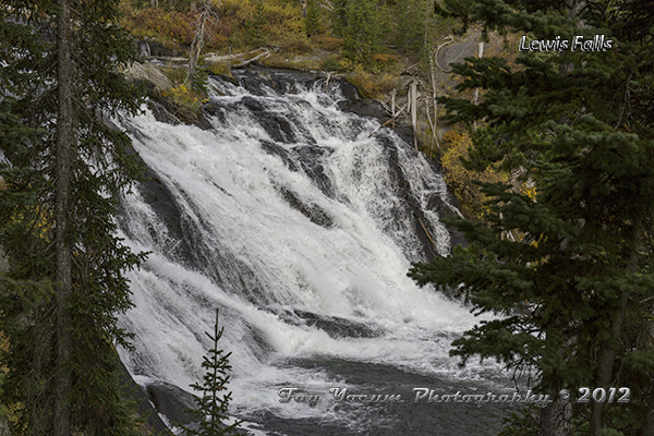 Lewis Falls in the fall time